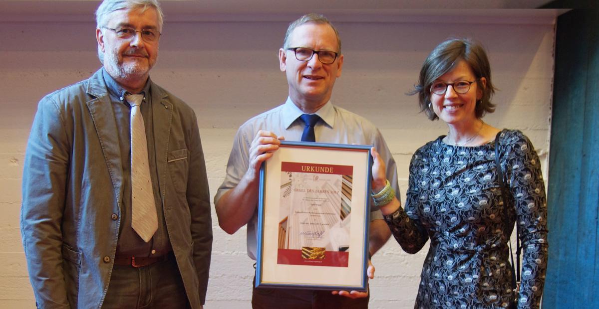 v.l.n.r.: Michael Schulz, Matthias Hirsch, Catharina Hasenclever