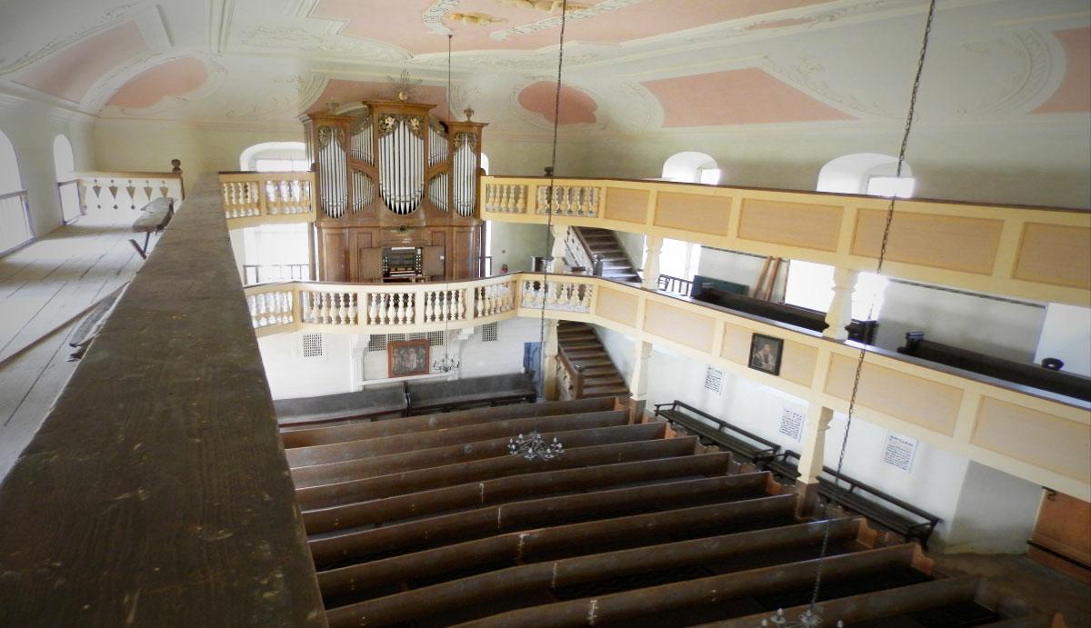 Böhme-Orgel von 1842 in Schönburg