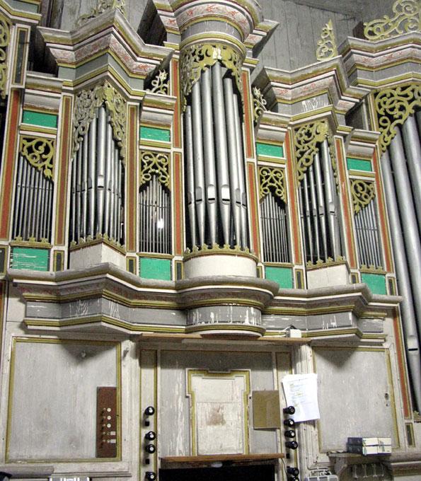 Orgel in der Stadtkirche St. Servator (Schlotheim)