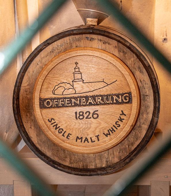 """""""Offenbarung 1826"""". Der Single Malt lagert in der Kirche zu Rastenberg."""