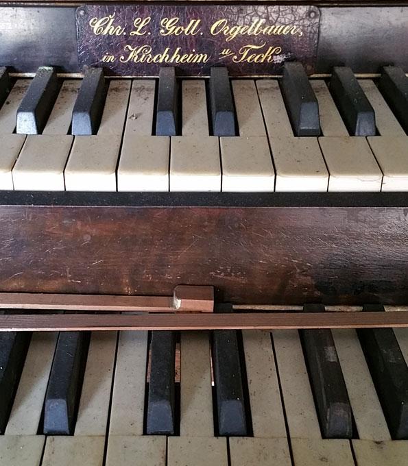 Manual der Goll-Orgel in Straubenhardt-Langenalb