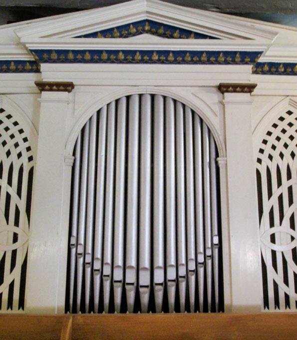 Turley-Orgel von 1824 in der Dorfkirche Frankenfelde