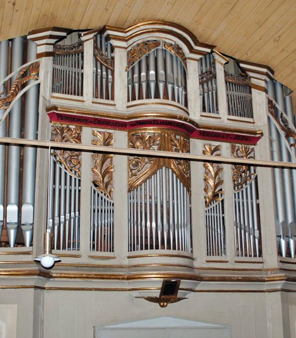 Gerhardt-Orgel von 1820 in St. Peter und Paul zu Großobringen (Thüringen)
