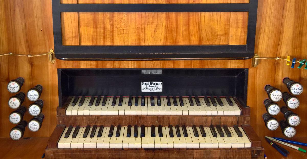 Wiegand-Orgel von 1863 in der Maria-Magdalenen-Kirche Lauterbach