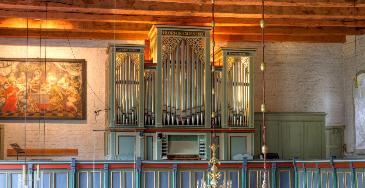 Marcussen-Orgel von 1857 in St. Olaf Breklum (Schleswig-Holstein)