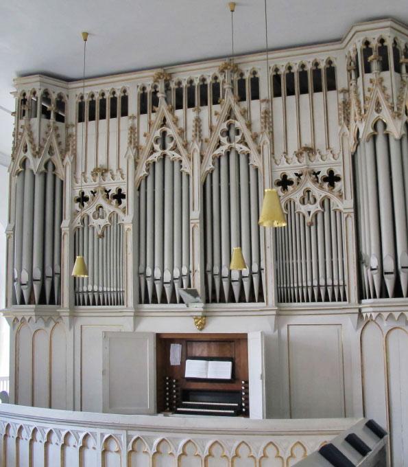 Opitz-Orgel von 1878 in der Christuskirche Rositz (Thüringen)