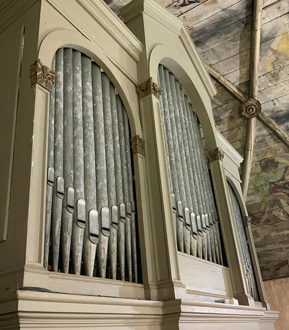 Voigt-Orgel von 1885 in der Dorfkirche Berge/Altmark