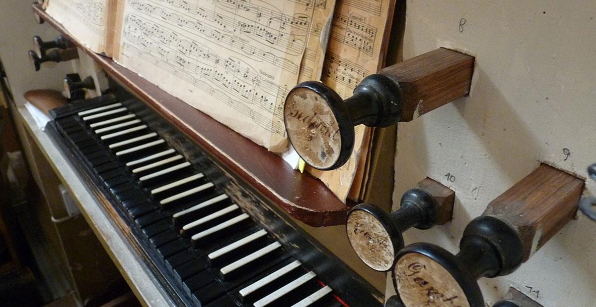 Schröther-Orgel von 1828 in der Dorfkirche Papitz (Brandenburg), 2019 von uns gefördert