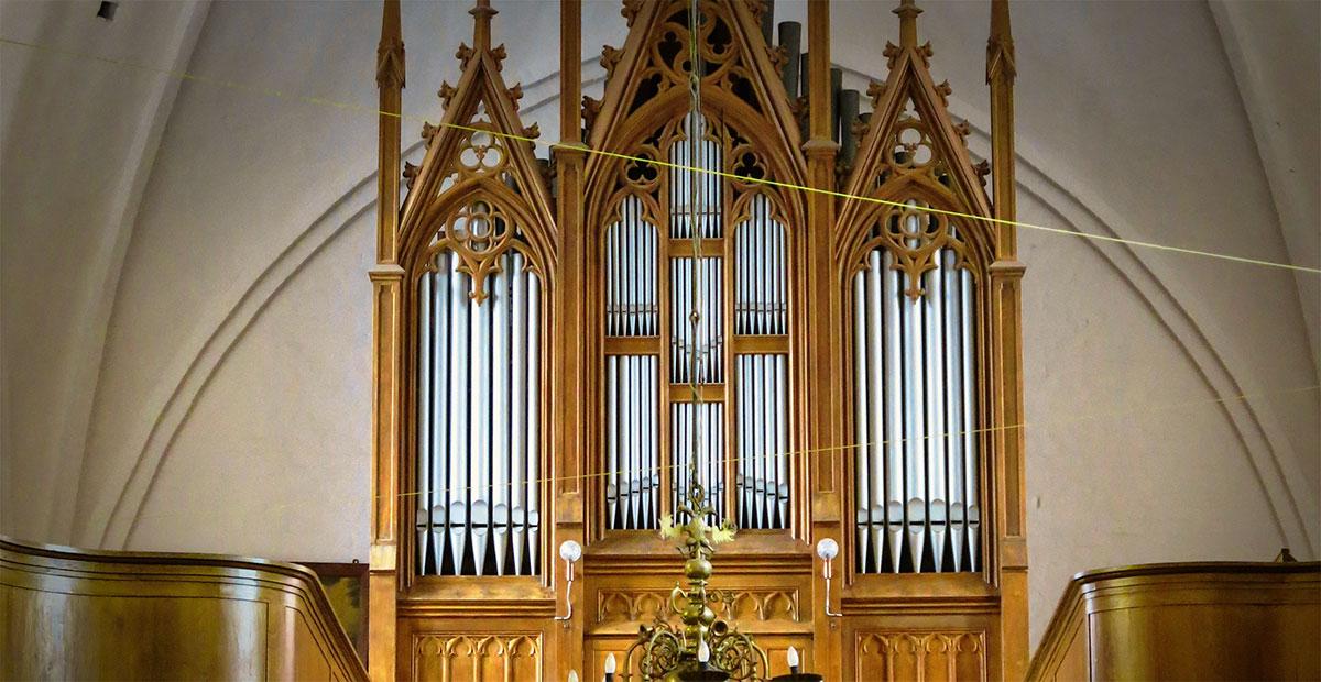 Winzer-Orgel (1861) in St. Pauls zu Schwaan (Mecklenburg-Vorpommern)