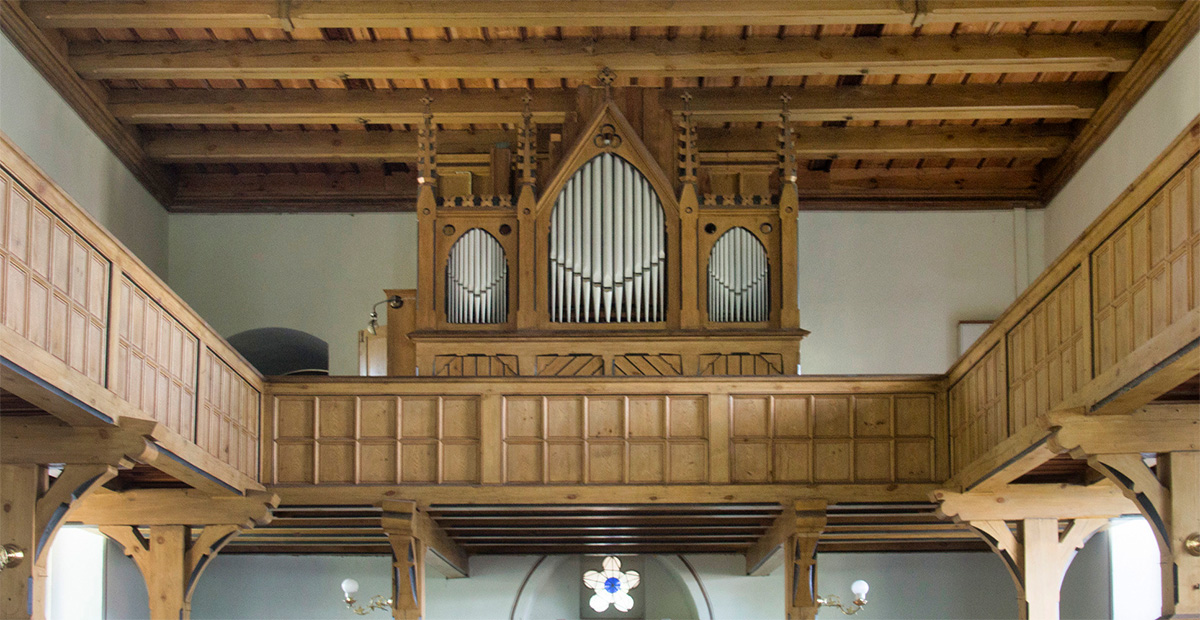 Remler-Orgel von 1887 in der Dorfkirche Parstein (Brandenburg)