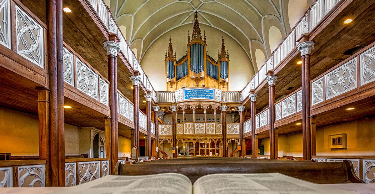 Orgel in der St.-Petri-Kirche zu Wörlitz (Sachsen-Anhalt)